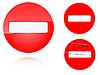 ID 3012750 | Набор вариантов дорожного знака запрета движения | Иллюстрация большого размера | CLIPARTO