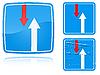 Zaletą Warianty na znak nadchodzącego ruchu drogowego | Stock Illustration