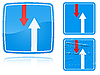ID 3012751 | 다가오는 교통 도로 표지판을 통해 변형의 장점 | 높은 해상도 그림 | CLIPARTO