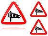 Zestaw Sidewind warianty - znak drogowy | Stock Illustration