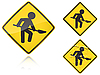 Warianty działa na drodze - znak drogowy | Stock Vector Graphics
