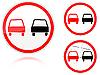 Überholung verboten - Verkehrsschild