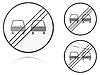Ende von keiner Weitergabe - Verkehrszeichen