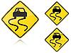 Warianty śliskie mokre - znak drogowy | Stock Vector Graphics
