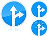 Prosto i tuż przed - znak drogowy | Stock Vector Graphics