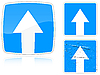 Warianty drogowy z ruch jednokierunkowy | Stock Vector Graphics