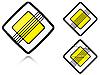 Warianty Koniec głównej drodze - znak drogowy | Stock Vector Graphics