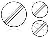 Warianty zakończenia wszelkich ograniczeń - znak drogowy | Stock Vector Graphics