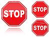 ID 3012843 | Zestaw znaków drogowych zatrzymania | Klipart wektorowy | KLIPARTO