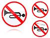 Sygnałów dźwiękowych jest zabronione znak drogowy | Stock Vector Graphics