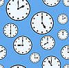 Vector clipart: Abstract background with office clocks