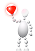 Mensch mit rotem Herz | Stock Vektrografik
