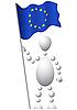 Человек с флагом Европы | Векторный клипарт