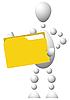 Mann mit gelbem Ordner | Stock Vektrografik
