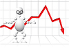 Man in Gläsern als Verlierer-Analyst | Stock Vektrografik
