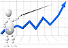 Człowiek z wskaźnik jako góry analityka | Stock Vector Graphics