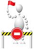 ID 3012967 | Mann mit Fahne erlaubt unterwegs nicht | Stock Vektorgrafik | CLIPARTO