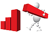 Man baut Diagramm aus roten Blöcke | Stock Vektrografik