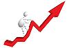 Mężczyzna górska Góra jako czerwona strzałka diagramu | Stock Vector Graphics