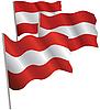 Österreich 3d Flagge.