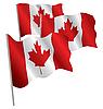 캐나다의 3D 플래그입니다. | Stock Vector Graphics