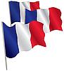 Франция 3d флаг. | Векторный клипарт