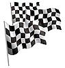 Финишный гоночный 3d флаг. | Векторный клипарт