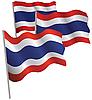 Thailand Flagge 3D.