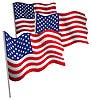 США 3d флаг | Векторный клипарт
