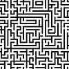 Czarno-białe tło z kompleksem labirynt | Stock Vector Graphics