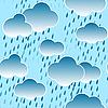 Hintergrund mit Wolken und Regentropfen