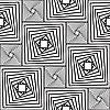 Czarno-białe tło z kwadratów | Stock Vector Graphics
