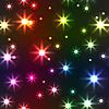 Hintergrund mit bunten Sterne