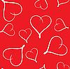 Dzień bez szwu Walentynki tła z serca | Stock Vector Graphics