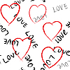 Nahtloses Valentinstag-Hintergrund | Stock Vektrografik