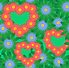ID 3013400 | Rotes Herz und Blumen | Stock Vektorgrafik | CLIPARTO