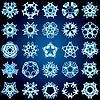 Fünf-Strahlen Kristall-Gradient-Schneeflocken