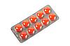 ID 3032724 | Orangefarbene Pillen im Blister. | Foto mit hoher Auflösung | CLIPARTO