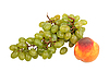 ID 3032734 | Zielony grono winogrona i brzoskwinia | Foto stockowe wysokiej rozdzielczości | KLIPARTO