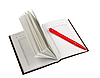 ID 3032919 | Leeres Tagebuch und roter Kugelschreiber | Foto mit hoher Auflösung | CLIPARTO