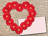 ID 3032955 | Strauß von roten Blumen wie Herz | Foto mit hoher Auflösung | CLIPARTO