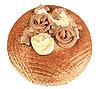 Schokoladenkuchen mit Rosen | Stock Photo