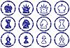 国际象棋的图标集 | 向量插图