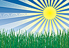 ID 3063539 | Gras, Himmel und Sonne | Stock Vektorgrafik | CLIPARTO