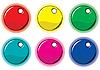 Set von farbigen Kreisen-Etiketten