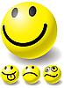 Set von vier Bällen-Smileys