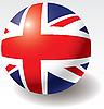 Flagge des Vereinigten Königreichs auf der Kugel