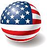 USA-Flagge auf der Kugel