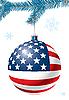 Weihnachtskugel mit US-Flagge