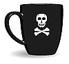 Schwarze schreckliche Tasse